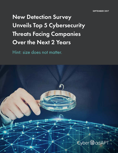 image from New Detection Survey Unveils Top 5 Cybersecurity Threats Facing Companies Over The Next 2 Years