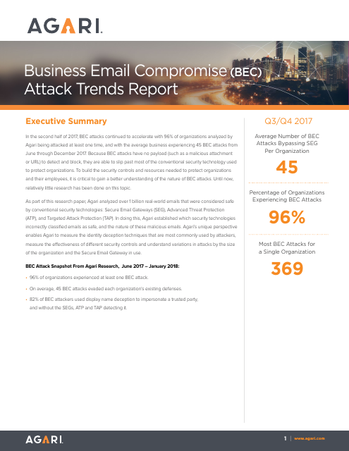 image from Business Email Compromise (BEC) Attack Trends Report
