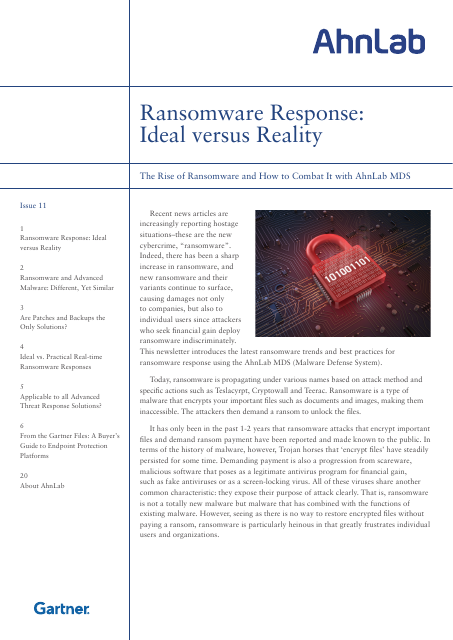 image from Ransomware Response:Ideal vs. Reality