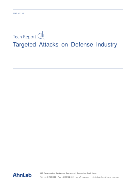 image from Tech Report:Targeted Attacks On Defense Industry