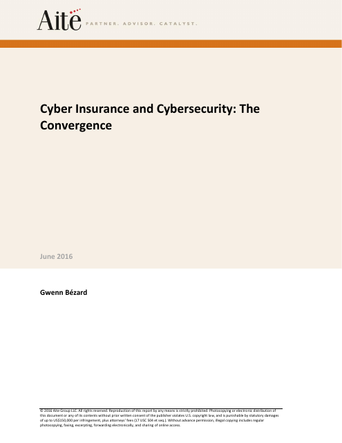 image from Cyber Insurance and Cybersecurity: The Convergence