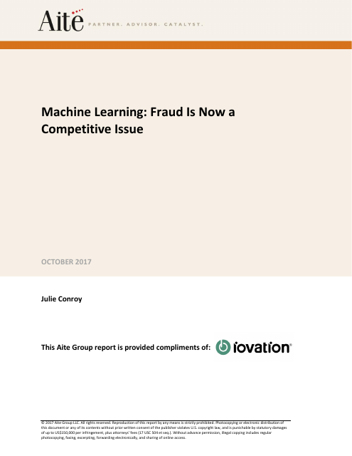 image from Machine Learning: Fraud Is Now A Competitive Issue