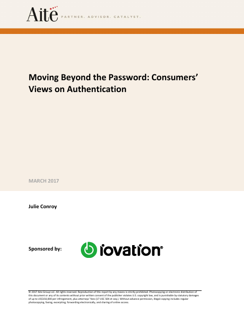 image from Moving Beyond The Password: Consumers' Views On Authentication