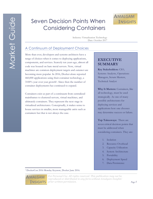 image from Seven Decision Points When Considering Containers