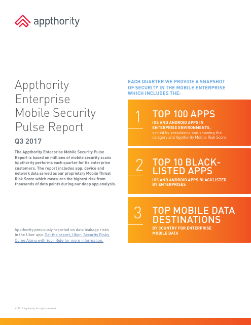 image from Enterprise Mobile Security Pulse Report Q3 2017