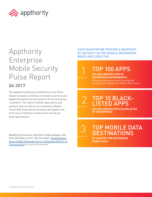 image from Enterprise Mobile Security Pulse Report Q4 2017