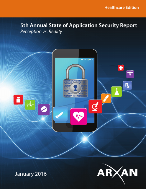 image from 5th Annual State of Application Security Report, Healthcare Edition (January 2016)