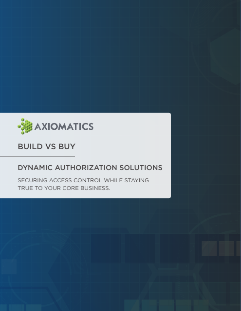 image from Build Vs Buy: Dynamic Authorization Solutions