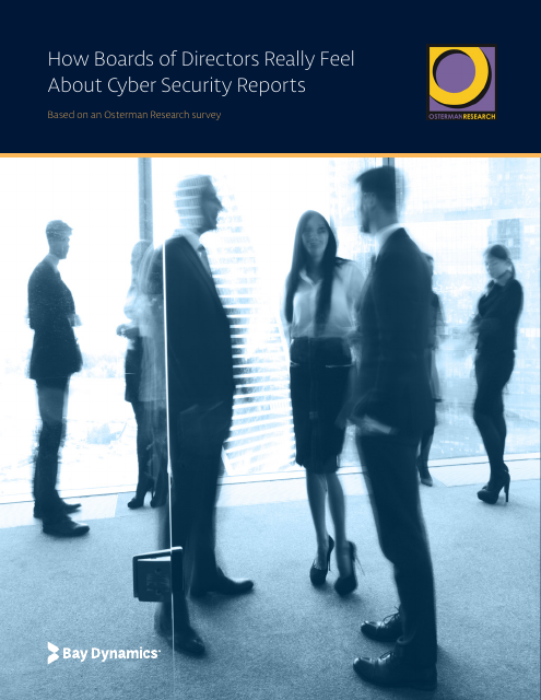 image from How Boards of Directors Really Feel About Cyber Security Reports