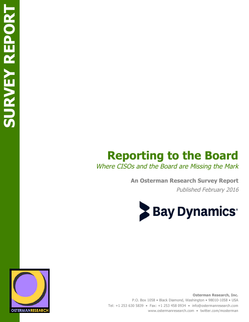 image from Reporting to the Board: Where CISOs and the Board are Missing the Mark