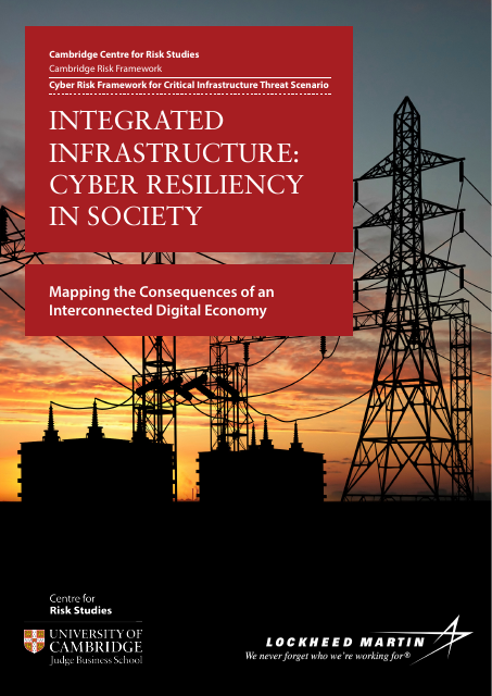image from Integrated Infrastructure: Cyber Resiliency in Society, Mapping the Consequences of an Interconnected Digital Economy;