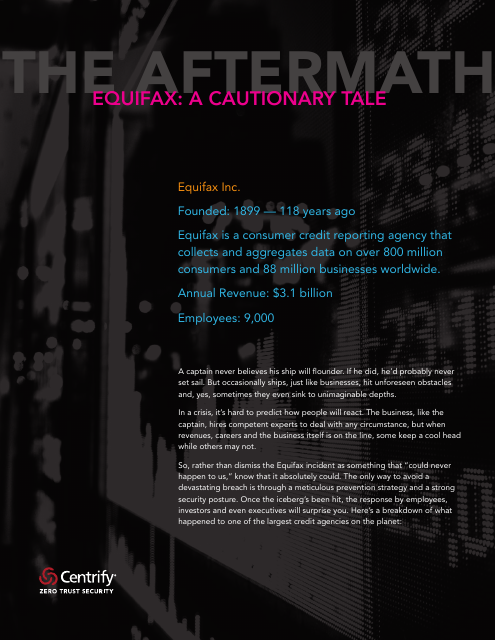 image from Equifax: A Cautionary Tale