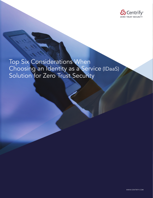 image from Top Six Things To Consider With An Identity As A Service Solution For Zero Trust Security
