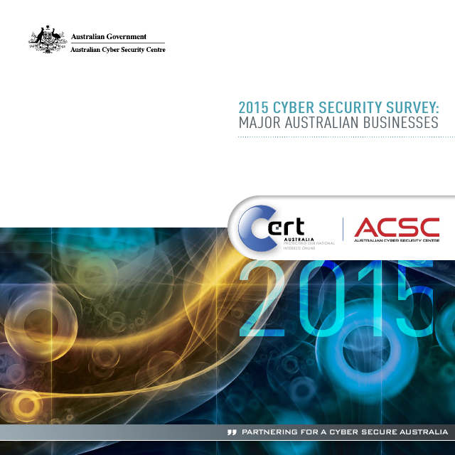 image from 2015 Cyber Security Survey: Major Australian Businesses