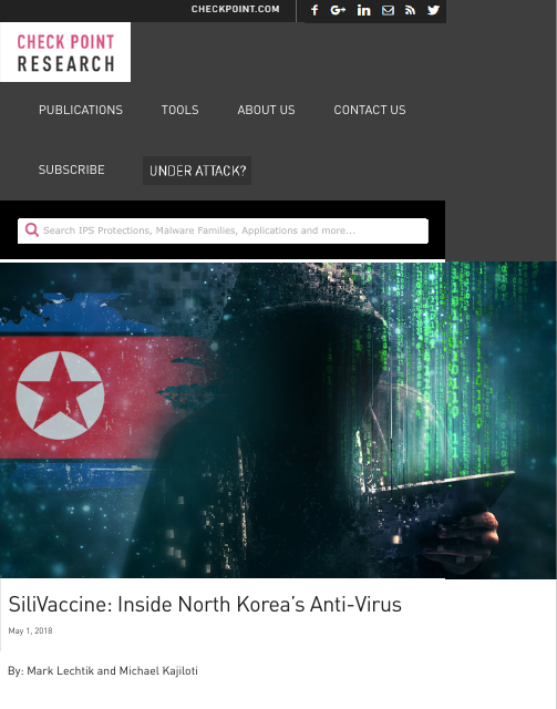 image from SiliVaccine: Inside North Korea's AntiVirus