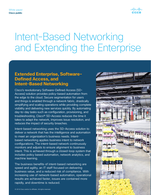 image from Intent-Based Networking And Extending The Enterprise