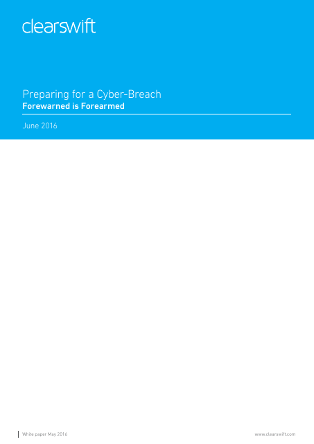 image from Preparing For A Cyber Breach: Forewarned Is Forearmed