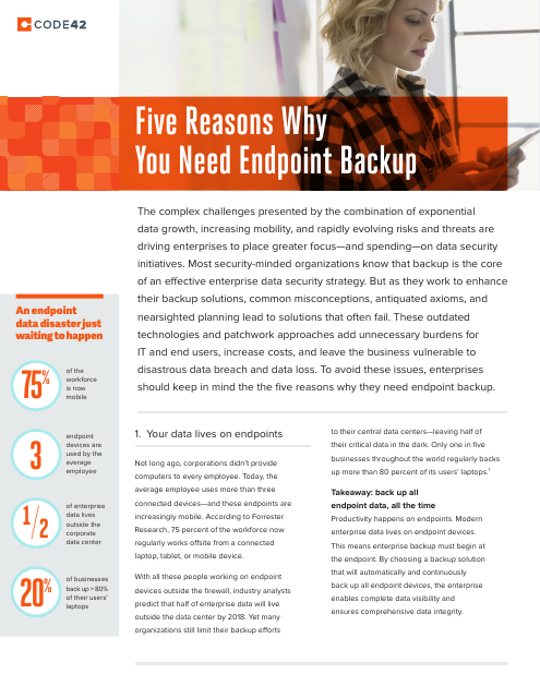 image from Five Reasons Why You Need Endpoint Backup