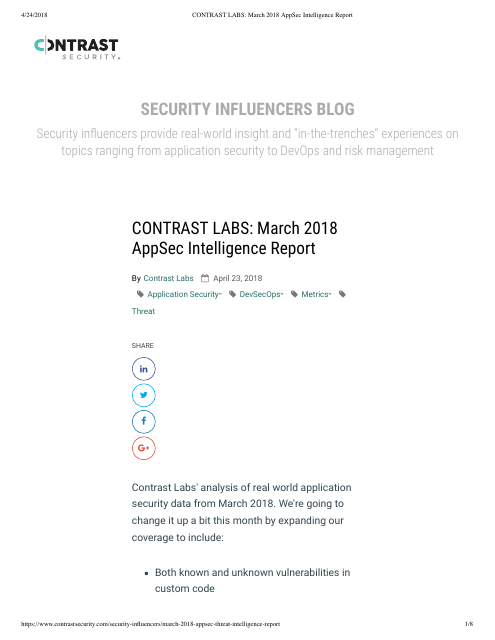 image from March 2018 AppSec Intelligence Report