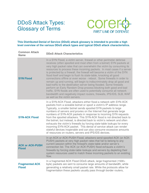 image from DDoS Glossary Of Terms