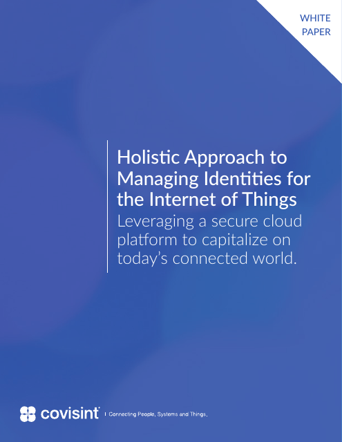image from A Holistic Approach To Identity Managing For The Internet Of Things