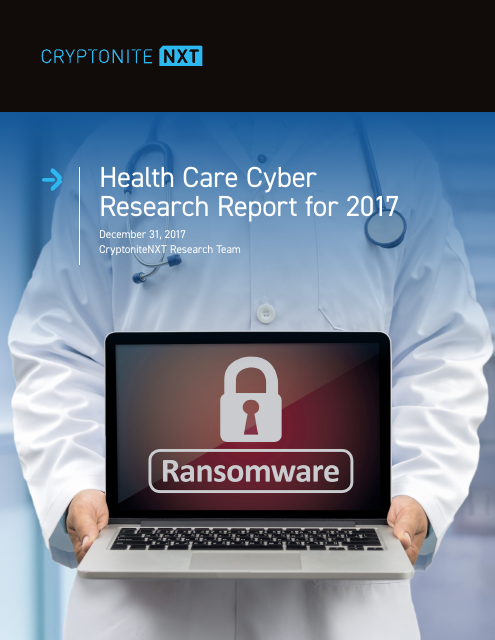 image from Healthcare Cyber Research Report For 2017 A CryptoniteNXT Special Report
