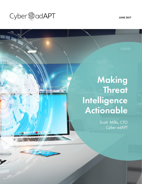 image from Making Threat Intelligence Actionable