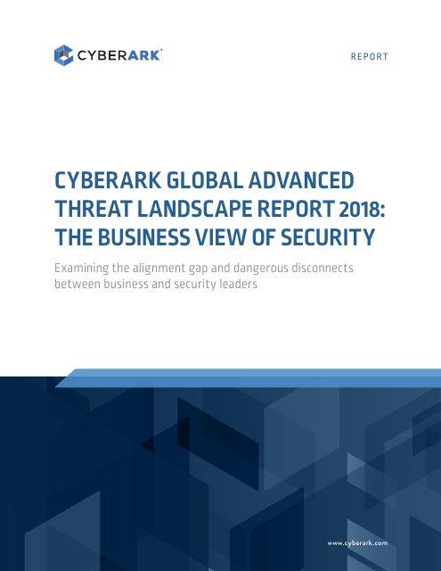 image from CyberArk Global Advanced Threat Landscape Survey 2018: The Business View Of Security