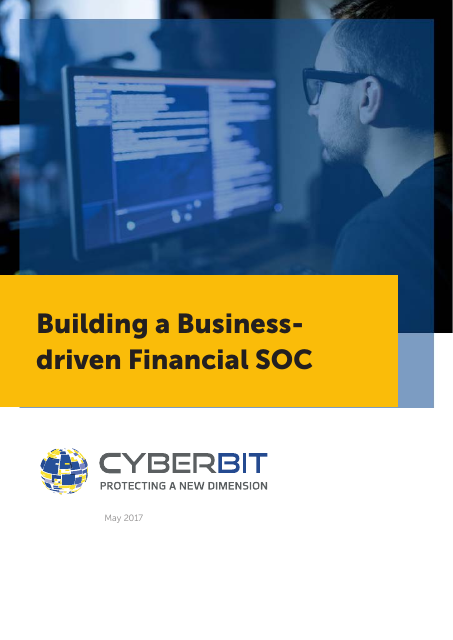 image from Buidling a Business Driven Financial SOC