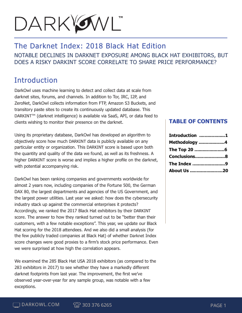 image from The Darknet Index: 2018 Black Hat Edition