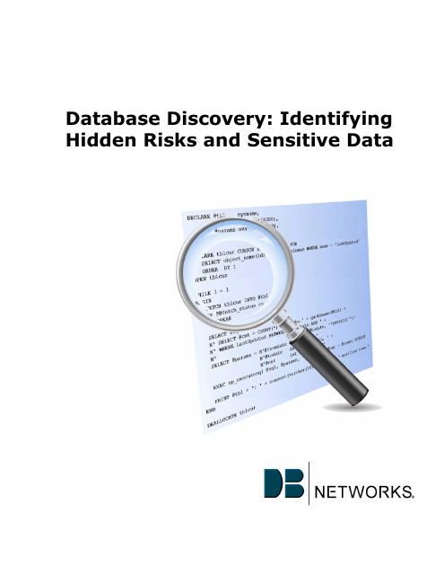 image from Database Discovery: Identifying Hidden Risks and Sensitive Data