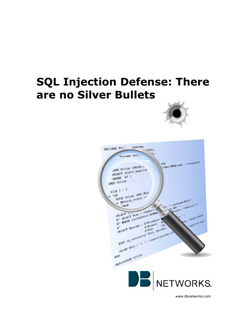 image from SQL Injection Defense: There are no Silver Bullets