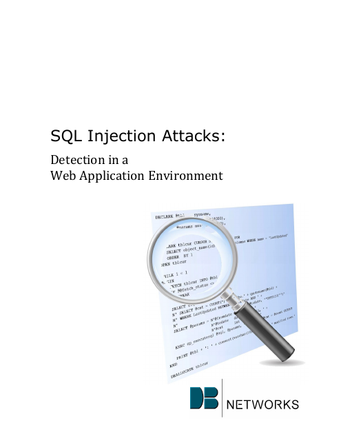 image from SQL Injection Attacks: Detection In A Web Application Environment