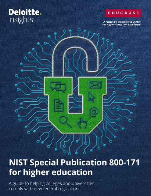 image from NIST Special Publication 800-171 for higher educatino