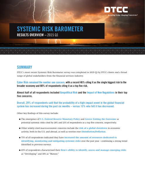 image from Systemic Risk Report 2015 Q1