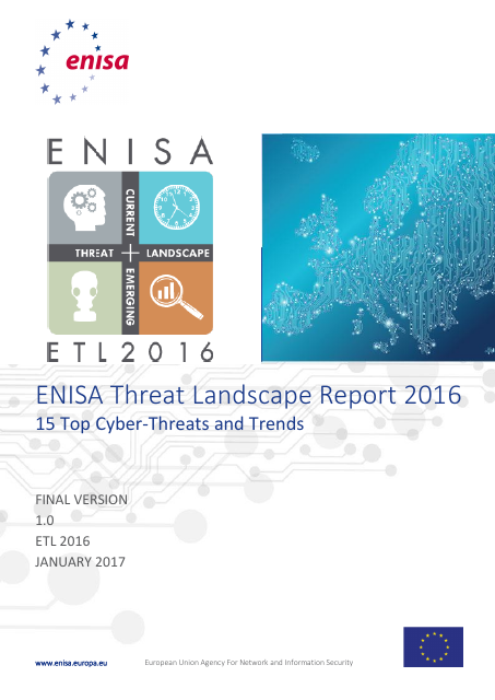 image from ENISA Threat Landscape Report 2016