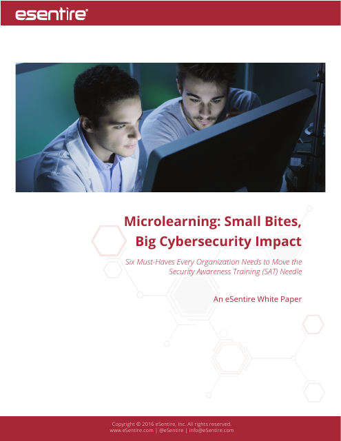 image from Microlearning: Small Bites, Big Cybersecurity Impact