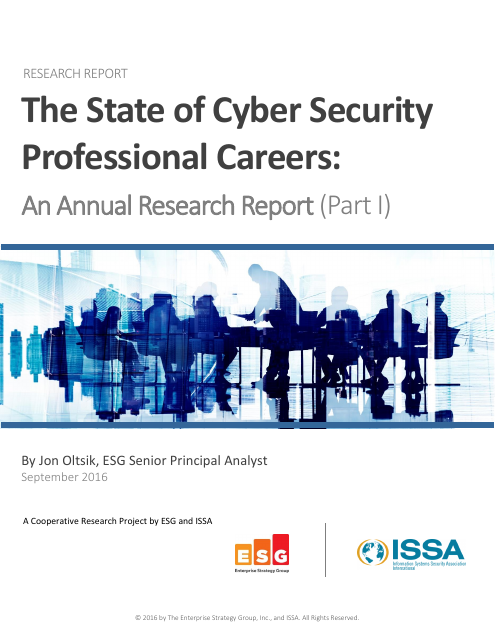 image from The State of CyberSecurity: Professional Careers