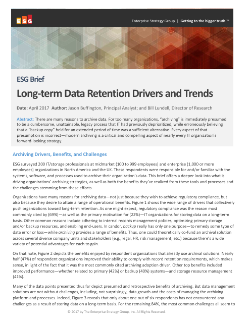 image from Long-term Data Retention Drivers and Trends
