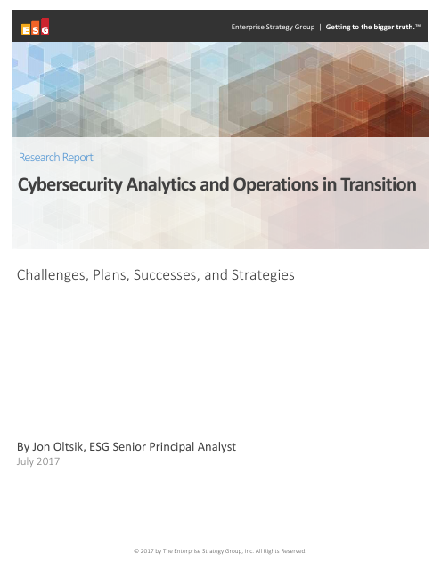 image from Security Analytics And Operations In Transition
