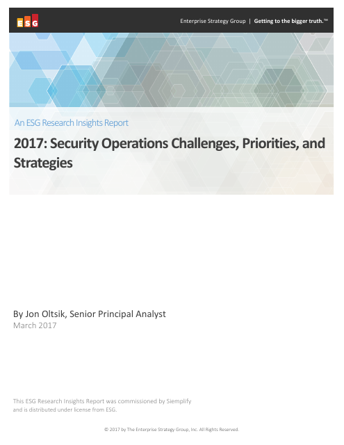 image from 2017: Security Operations Challenges, Priorities, and Strategies