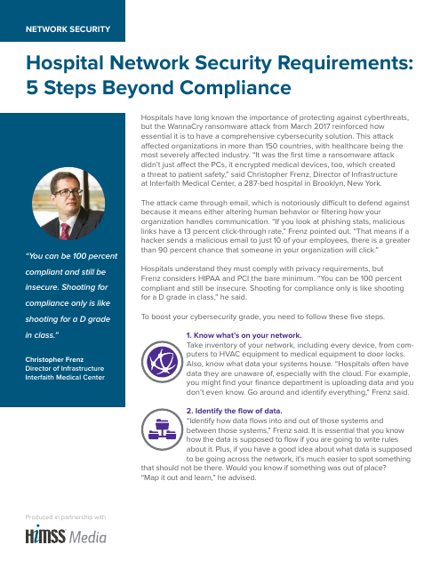 image from Hospital Network Security Requirements:5 Steps Beyond Compliance