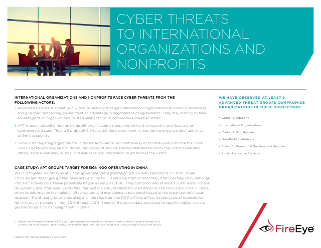 image from Cyber Threats To International Organizations And Non-Profits