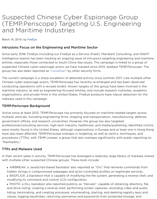 image from Suspected Chinese Syber Espionage Group TEMP.Periscope Targeting U.S. Engineering and Maritime Industries