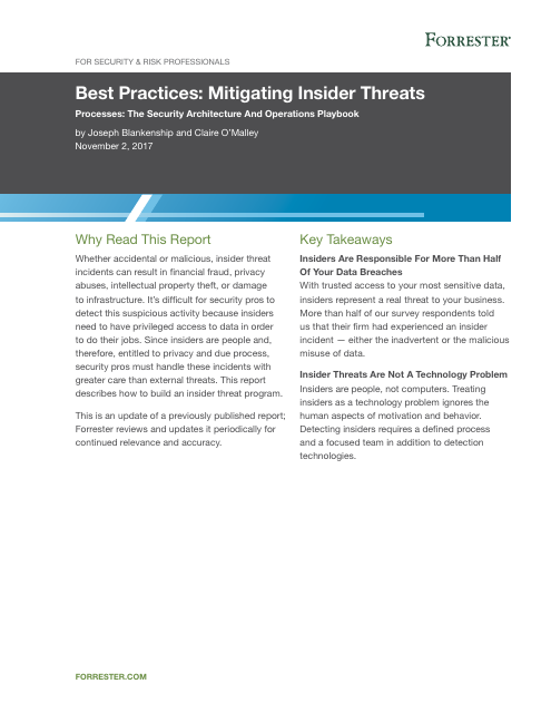 image from Best Practices:Mitigating Insider Threats