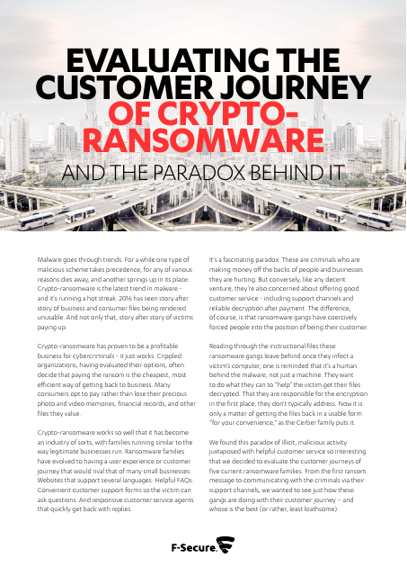 image from Evaluating The Customer Journey Of Crypto-Ransomware And The Paradox Behind It