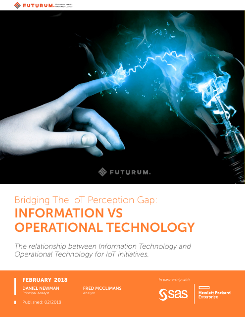 image from Bridging The IoT Perception Gap:Information Vs. Operational Technology