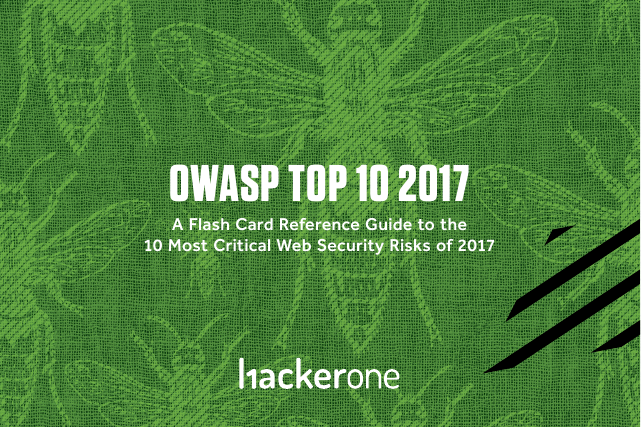 image from OWASP Top 10 2017 A Flash Card Guide