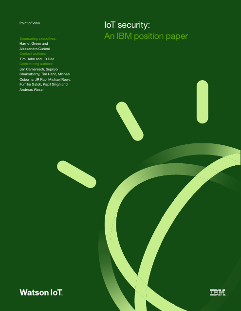 image from IoT Security:An IBM Position Paper