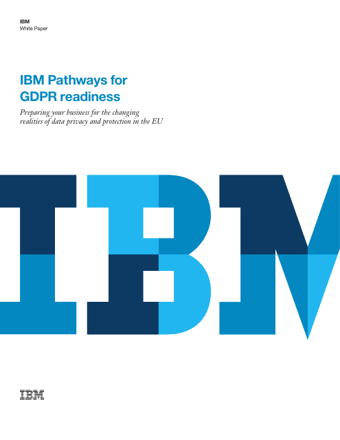 image from IBM Pathways For GDPR Readiness